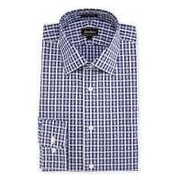 Neiman MarcusClassic-Fit Regular-Finish Plaid Dress Shirt, Blue