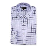 Neiman MarcusClassic-Fit Regular-Finish Plaid Dress Shirt, Purple