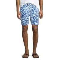 Neiman MarcusHawaii Printed Swim Trunks, Royal