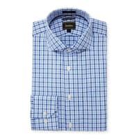 Neiman MarcusLuxury Tech Trim-Fit Check Dress Shirt, Blue