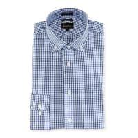 Neiman MarcusTrim-Fit Check Dress Shirt, Blue