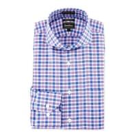 Neiman MarcusTrim-Fit Non-Iron Check Dress Shirt, Purple/Blue