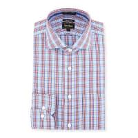 Neiman MarcusTrim-Fit Non-Iron Plaid Dress Shirt, Red