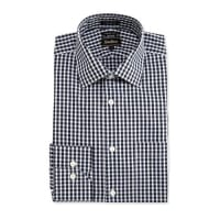 Neiman MarcusTrim-Fit Regular-Finish Check Dress Shirt, Black