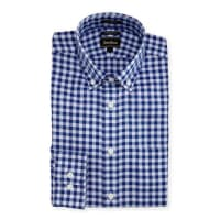 Neiman MarcusTrim-Fit Regular-Finish Check Dress Shirt, Blue