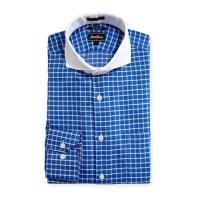Neiman MarcusTrim-Fit Regular-Finish Check-Print Dress Shirt, Blue