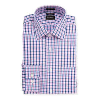 Neiman MarcusTrim-Fit Regular-Finish Plaid Cotton Dress Shirt, Pink