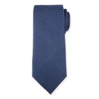 Neiman MarcusWoven Silk Tie, Navy/Blue