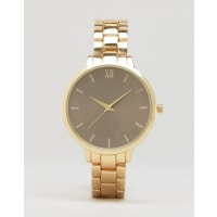 New LookGold Oversized Dial Watch - Gold