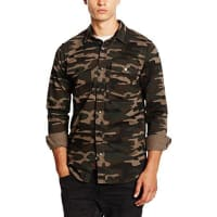 New LookHerren Freizeithemd Camo Shacket
