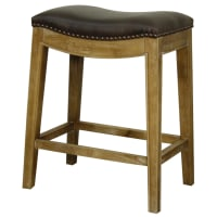 New Pacific DirectElmo Bonded Leather Counter Stool Weathered Smoke