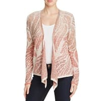 Nic And ZoeNic+Zoe Sunset Coral Ombre Jacquard Cardigan