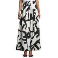 Nic+ZoeGraphic-Print Pleated Maxi Skirt