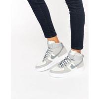 NikeAir Force 1 Hi Sneakers In Grey Suede - Grey