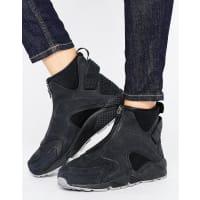NikeAir Huarache Run Premium Mid Sneakers In Black - Multi