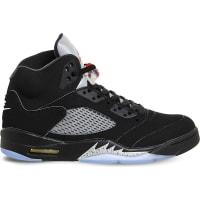 SelfridgesNIKE Air Jordan 5 retro leather trainers, Mens, Size: 6, Black Fire Red Og