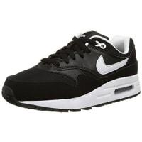 NikeAir Max 1 (GS) Zapatillas de running, Niños, Negro / Blanco, 37 1/2
