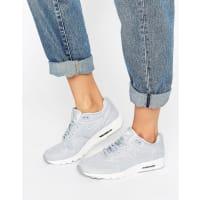 NikeAir Max 1 Ultra Plush Sneakers In Grey - Black
