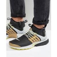 NikeAir Presto Utility Mid Sneakers In Black 859524-002 - Black