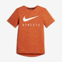 NikeAthlete Big Kids (Boys) Short Sleeve Training Top Size Small (Orange)