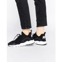 NikeBlack & White Air Huarache Ultra Sneakers - Black