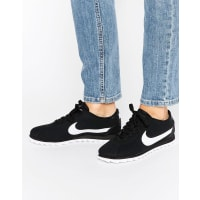 NikeCortez Ultra Moire Sneakers In Perforated Black And White - Black