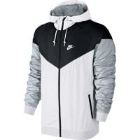Nikecoupe-vent blanc noir gris