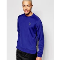 Nike744010-455 - Marineblaues Sweatshirt mit Rundhalsausschnitt - Marineblau