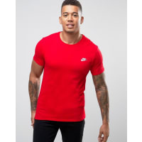 NikeEmbroided Swoosh T-Shirt In Red 827021-611 - Red
