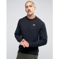 NikeEverett Crew - Sweatshirt in Schwarz-auf-Schwarz-Optik 846884-010 - Schwarz