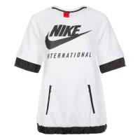 NikeSportswear International Sweatshirt Damen, weiß, weiß / schwarz