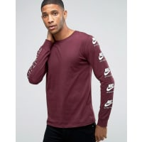 NikeInternational T-Shirt With Arm Print In Red 803981-681 - Red