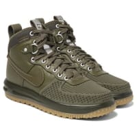 NikeLunar Force 1 Duckboot Leather And Rubber Sneakers - Green