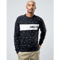 NikeNike - SB x CH Everett - Schwarzes Sweatshirt mit Rundhalsausschnitt, 845376-010 - Schwarz
