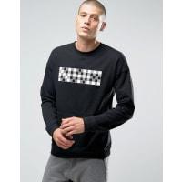 NikeNk Court - Schwarzer Pullover mit Rundhalsausschnitt, 810149-010 - Schwarz