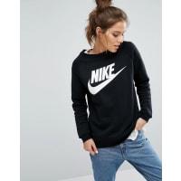 NikeRally - Schwarzes Sweatshirt mit großem Futura-Logo - Schwarz