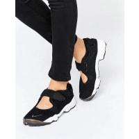 NikeBlack Rift Breathe Strap Sneakers - Black