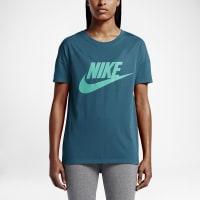 NikeSignal Logo Womens T-Shirt Size Medium (Blue)