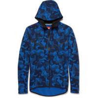 NikeSlim-fit Camouflage-print Cotton-blend Tech-fleece Zip-up Hoodie - Blue