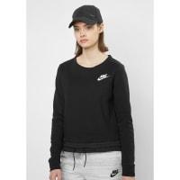 NikeSweatshirt AV15 Crew FLC black/white
