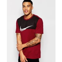 NikeT-Shirt With Metallic Swoosh In Red 804938-677 - Red