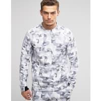 NikeWeißes Sweatshirt aus Fleece mit Tarnmuster, 823501-100 - Weiß