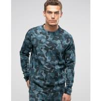 NikeTech Fleece Sweatshirt mit Military-Muster in Grün 823501-392 - Grün