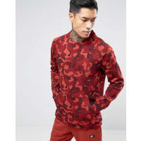 NikeTech Fleece Camo Sweat In Red 823501-674 - Red