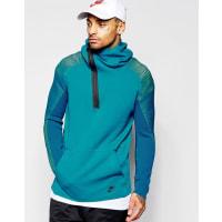 NikeTech Fleece Hoodie In Blue 805655-451 - Blue