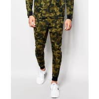 NikeTech Fleece Skinny Joggers In Green 823499-347 - Green