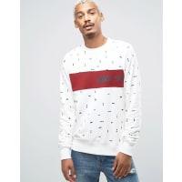 Nikex CH Everett - Sweatshirt mit Rundhalsausschnitt in Weiß 845376-151 - Weiß