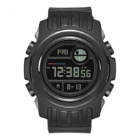 NixonA921SW-2244-00 Mens Black Dial Digital Automatic Watch With Silicone Strap