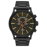 NixonSentry Chrono Watch Black