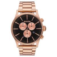 NixonSentry Chrono Watch Gold
